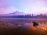 Fog Hanging Over Reflection Lake Photographic Print by Craig Tuttle
