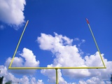 Football Goal Posts Against Sky Photographic Print by Alan Schein