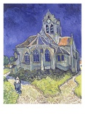 The Church at Auvers Giclee Print by Vincent van Gogh