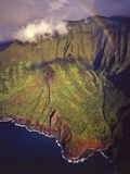 Aerial View of Na Pali Coast Photographic Print by Kerrick James
