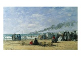 The Beach at Bathing Time Giclee Print by Eugène Boudin