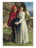 Ferdinand and Miranda from Shakespeare's The Tempest Giclee Print by Frederick Richard Pickersgill