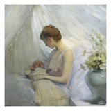 Young Woman and Baby Giclee Print by Jules Jean Geoffroy