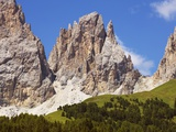 Langkofel mountain in the Italian Dolomites Photographic Print by Frank Krahmer