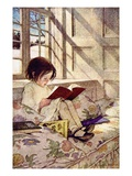 Books In Winter Giclee Print