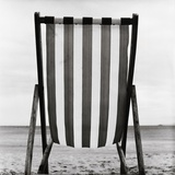 Striped Canvas Deck Chair Photographic Print by Manuela H&#246;fer