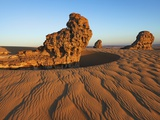 Eroded rock formations, Tassili du Hoggar, Algeria Photographic Print by Frank Krahmer