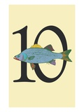 Number 10 Giclee Print by Steve Collier
