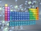 Periodic table of the elements and molecules Photographic Print