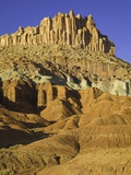 Castle and Fluted Wall Formations in Capitol Reef National Park Photographic Print by John Eastcott & Yva Momatiuk