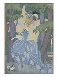 Walk in the Forest Giclee Print by Georges Barbier