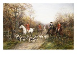 Going Through the Copse Premium Giclee Print by Heywood Hardy