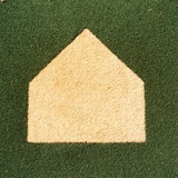 Home Plate on an Artificial Turf Field Photographic Print by Paul Edmondson