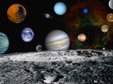 Planets of the Solar System Photographic Print