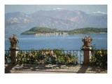 View of the Isola Bella, Italy Premium Giclee Print by Angelo Morbelli