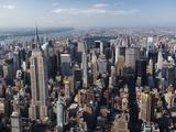 Silhuett av Manhattan Fotografiskt tryck av Cameron Davidson