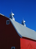 Roof on a Large Red Barn Photographic Print by Karen Kent