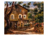 The Collette House in Cagnes Giclee Print by Pierre-Auguste Renoir