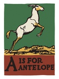 A Is for Antelope Giclee Print