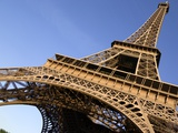 France Paris Eiffel Tower low angle view Photographic Print by Paul Seheult