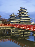 Footbridge spanning moat at Matsumoto Castle Photographic Print by Rudy Sulgan