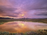 Blackstone Uplands at Sunset, Tombstone Territorial Park, Yukon Territory, Canada Photographic Print by John E Marriott