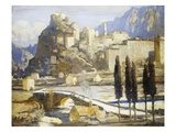 Corte, Corsica, France Premium Giclee Print by James Paterson