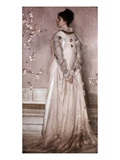 Symphony in Flesh Color and Pink: Portrait of Mrs. Frances Leyland Premium Giclee Print by James Abbott McNeill Whistler
