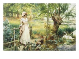 A Reverie by the River Giclee Print by Alfred Augustus Glendening II