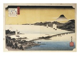 Sunset at Seta, from the Series Eight Views of Lake Biwa Giclee Print by Utagawa Hiroshige