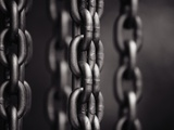 Close Up of Chain Links Photographic Print by David H. Wells