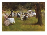 A Summer Garder Party Premium Giclee Print by Albert Chevallier Tayler