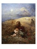 And Dora Took the Child and Went Her Way Giclee Print by Alfred Joseph Woolmer