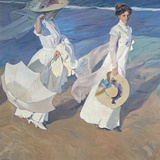 Seaside Stroll Photographic Print by Joaquin Sorolla y Bastida