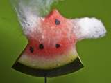 Watermelon Explosion Photographic Print by Alan Sailer
