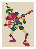 Robot playing electric guitar Giclee Print by Sabet Brands