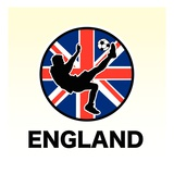 England Soccer Giclee Print
