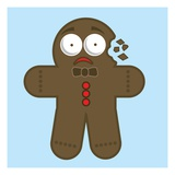 Crumbling gingerbread man Giclee Print by Sabet Brands
