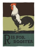 R is for rooster Giclee Print