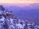 Sunset and Storm Clouds Above Grand Canyon Photographic Print by George H.H. Huey