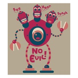 Robot that sees, hears, and speaks no evil Giclee Print by Sabet Brands