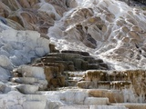 Travertine terraces at Yellowstone's Mammoth Hot Springs Fotografisk tryk af Charles Kogod