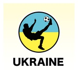 Ukraine Soccer Giclee Print