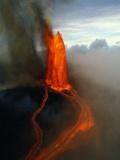 Kilauea Erupting Photographic Print by Douglas Peebles
