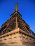 Edge of Eiffel Tower Photographic Print