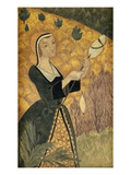 Young Girl with Oak Leaves Gicleetryck av Paul Serusier