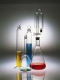 Graduated Cylinders and Flasks Fotografisk tryk af Andrew Unangst
