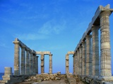 Temple of Poseidon in Greece Photographic Print by Paul Souders