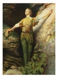 Maude Adams as Peter Pan Giclee Print by Sigismond De Ivanowski