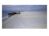 Fishermen on the Beach at Skagen, Denmark Giclee Print by Peder Severin Kröyer